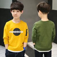 男童长袖T恤儿童装男孩小衫衣服春秋打底衫体恤春装