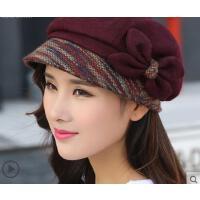 新款时尚户外毛呢八角帽韩版潮百搭鸭舌帽英伦贝雷帽子女