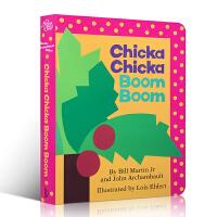 英文原版 Chicka Chicka Boom Boom 叽喀叽喀碰碰廖彩杏推荐书单 入门启蒙早教26字母儿童纸板童书