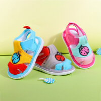 0-1-3岁男女夏季包头软底学步鞋婴儿宝宝织布鞋子凉鞋