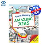 英文原版 孤独星球 探秘世界系列:好玩的工作 World Search: Amazing Jobs 低幼儿童趣味翻翻纸板