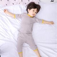 儿童家居服夏季男童薄款睡衣套装宝宝小童短袖空调服男孩夏天