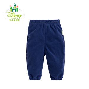 迪士尼Disney童装男童裤子春秋宝宝休闲裤摇粒绒可开裆裤子171K739