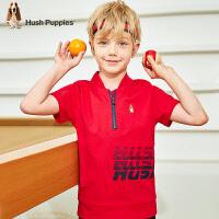 【预估券后价:76元】暇步士童装男童POLO衫夏季新款儿童洋气T恤中大童轻薄棉短袖