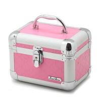 家用美妆工具箱 美容化妆箱 美甲箱 手提带锁带镜子