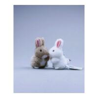 小白兔玩具公仔兔兔玩具手工车内毛绒挂件小白兔情侣玩具兔子挂件抖音