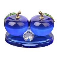 汽车香水座摆件饰品空瓶创意水晶车载香水座式香水瓶车内车里苹果