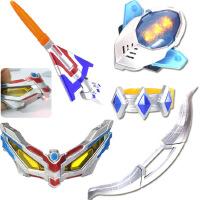 赛罗奥特曼蛋银河火花玩具眼镜超人头镖 声光变身器5件套
