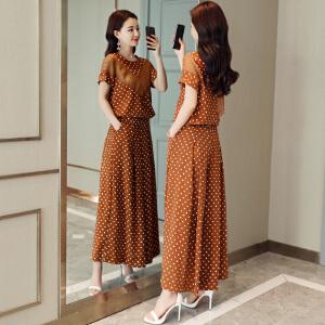风轩衣度 套装/套裙2018年夏季舒适修身纯色气质韩版简约宽松 2278-1872
