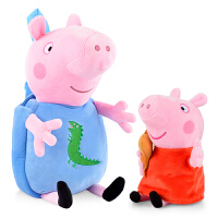 小猪佩奇书包佩琪乔治书包男孩女孩幼儿园1-3岁毛绒书包宝宝背包