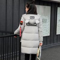 少女韩版宽松加厚棉衣2018冬季新款初中学生冬装女外套中长款 X