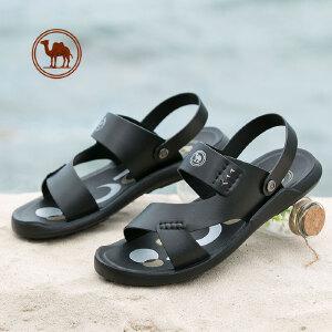 骆驼牌男凉鞋 2018夏季新款男士两穿凉拖鞋 防滑露趾休闲男沙滩鞋