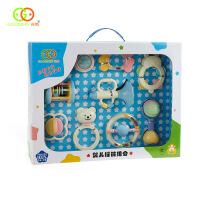 goodway摇铃礼盒 婴儿满月礼物0-3个月宝宝新生儿玩具用品