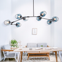 雷士照明 北欧分子灯吊灯 客厅吊灯灯具套装风格客卧创意魔豆灯餐厅灯温馨