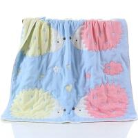 全棉8层10纱布宝宝盖被全棉新生婴儿童盖毯浴巾毛巾被秋冬加厚款