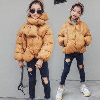 女童棉衣袄冬装2018新款儿童韩版时髦外套小女孩子加厚短款潮