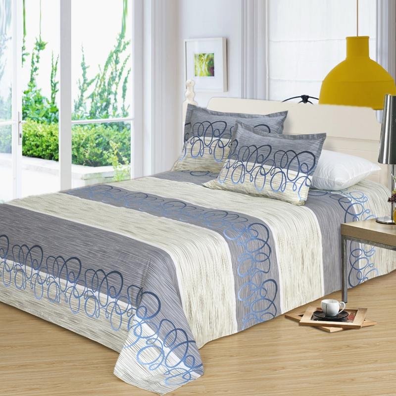加厚老粗布床单三件套纯棉麻双人帆布凉席床品套件1.5米1.8m2.0床 浅灰色 挥墨如画  全棉布 凉而不冰 清爽舒适 平整厚实 床单加枕套一对。