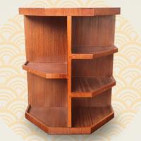 木制360度旋转化妆品收纳盒大号木质桌面整理梳妆台护肤品置物架