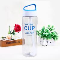 大容量太空杯学生1500户外便携水壶塑料运动大号水杯2000ml 2000mlcup款 浅蓝色