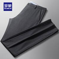 【2折预估到手价:123叠券更优惠】罗蒙男士休闲西裤2021夏季新款直筒裤中青年百搭长裤