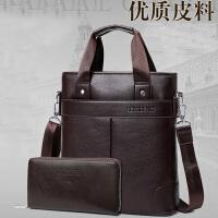 男包手提包包男斜跨包商务休闲皮包单肩男士公文包背包iPad竖款潮