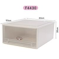 抽屉式衣物收纳箱加厚透明衣柜整理箱储物箱特大号塑料衣服收纳盒 一层