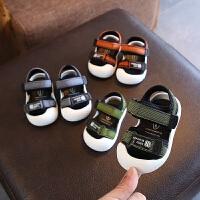 夏季新款男宝宝凉鞋幼儿包头防踢婴儿鞋软底防滑学步鞋女