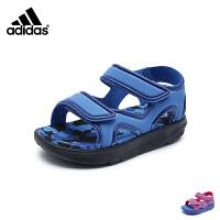 阿迪达斯Adidas童鞋18新款凉鞋男女童夏季儿童迷彩耐磨沙滩鞋 (5-10岁可选) DB2527