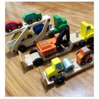 儿童礼物益智木头玩具木质汽车模型挖土机搅拌机起重机拖拉机木质