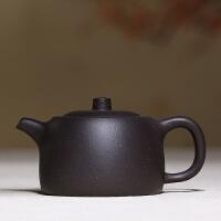 宜兴紫砂壶手工原矿井栏壶黑泥功夫泡茶壶茶具套装 井栏壶