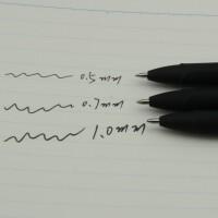 宝克0.7mm中性笔1.0签字笔碳素黑蓝红色0.5子弹头型大容量墨粗水笔笔芯商务办公学生硬笔书法考试用练写批发