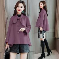 短款斗篷毛呢外套女士2018冬季新款韩版时尚流行宽松小个子呢大衣