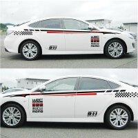 丰田卡罗拉威驰锐志花冠汽车改装全车贴整车拉花车身贴纸