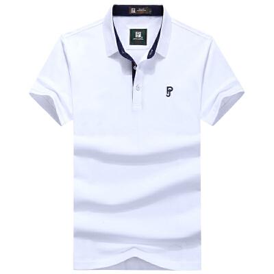 90610吉普盾夏装新款纯棉弹力短袖T恤衫 翻领商务休闲polo纯色潮