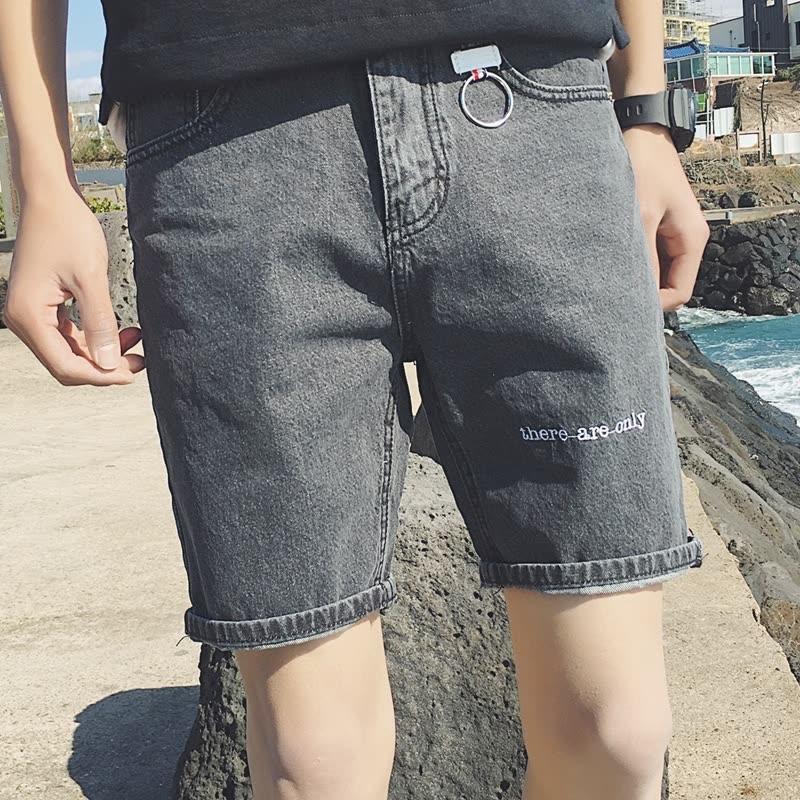 牛仔短裤五分裤男青年夏天修身休闲短裤5分裤学生大码薄款裤潮流 发货周期:一般在付款后2-90天左右发货,具体发货时间请以与客服协商的时间为准