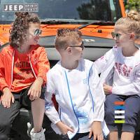 【每满200减100】JEEP/吉普童装 男女童户外梭织外套中大儿童休闲轻薄皮肤衣