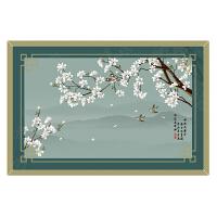 中式地毯现代简约茶几书房满铺空谷幽兰房间床边毯卧室客厅地毯