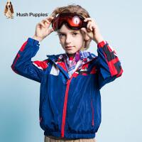 【3件3折:170.7元】暇步士童装春季新款男童外套时尚印花加绒厚风衣外套儿童外套