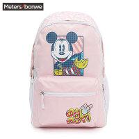 【狂欢返场,专区1件3折】美特斯邦威双肩包女新款迪士尼可换面背包学生双肩包书包