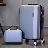 韩版万向轮24寸拉杆箱子母套箱女学生行李箱小20寸密码箱登机箱