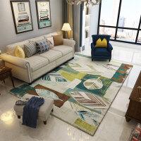 复古美式乡村北欧地毯客厅茶几沙发地毯卧室满铺床边地毯家用 120cmx160cm【无螨技术 可水洗 送地垫】