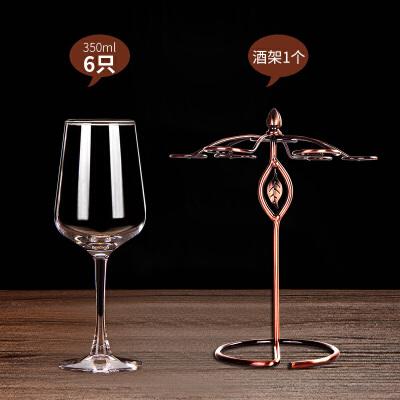 欧式红酒杯套装家用玻璃葡萄酒杯大号高脚杯子醒酒器酒架具1929 +红酒架 发货周期:一般在付款后2-90天左右发货,具体发货时间请以与客服协商的时间为准
