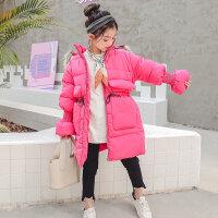 女童棉衣冬装2018新款儿童韩版加厚棉袄中大童装洋气长款外套