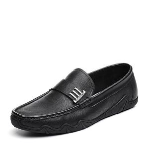 Tata/他她2018夏专柜同款牛皮革经典乐福鞋平底男休闲鞋S2536BM8