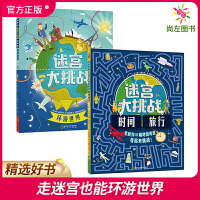 (限时抢)迷宫大挑战(全2册)环游世界+时间旅行 历史城市知识游戏益智书