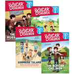 棚车少年分级读物4册 英文原版 The Boxcar Children Time to Read Level 2 美国