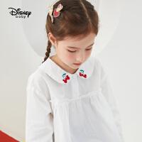 迪士尼女童时尚衬衫纯棉2021春秋新款童装洋气可爱儿童宝宝上衣