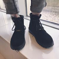 雪地靴冬季马丁靴鞋子高帮男士秋季工装靴子男鞋中帮潮
