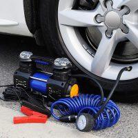 双缸大功率300W车载充气泵12V便携式汽车轮胎打气泵