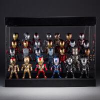 27款Q版钢铁侠3模型玩具可发光IRON MAN钢铁侠战争机器现货